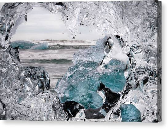 Heart Of Ice Canvas Print