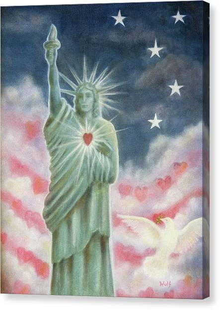 Heart Of Liberty Canvas Print