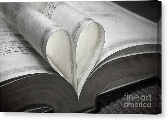 Heart Of The Book  Canvas Print