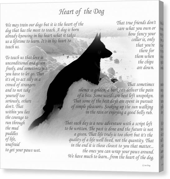 Heart Of The Dog Version Two Canvas Print