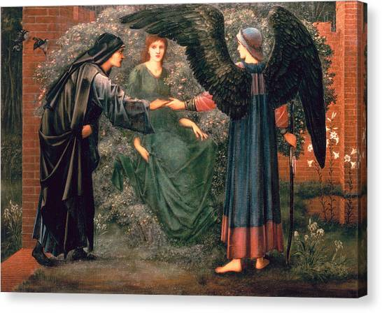 The Annunciation Canvas Print - Heart Of The Rose by Sir Edward Burne-Jones