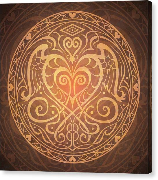 Ancient Art Canvas Print - Heart Of Wisdom Mandala by Cristina McAllister