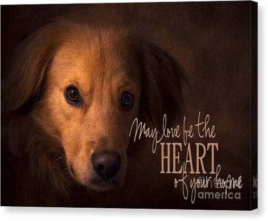 Canvas Print featuring the digital art Heart Of Your Home  by Kathy Tarochione