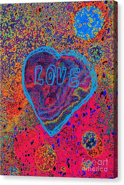 Heart On The Stage Canvas Print
