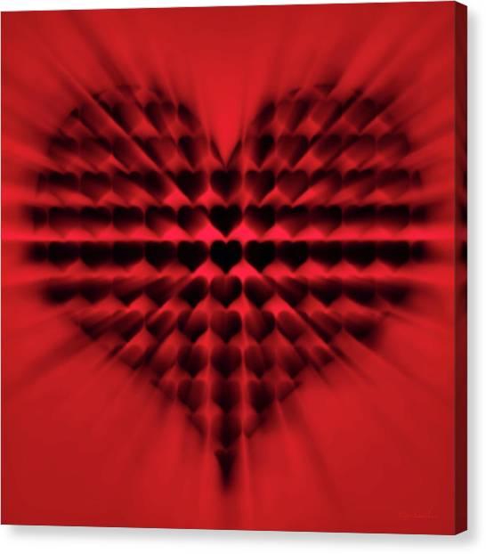 Heart Rays Canvas Print