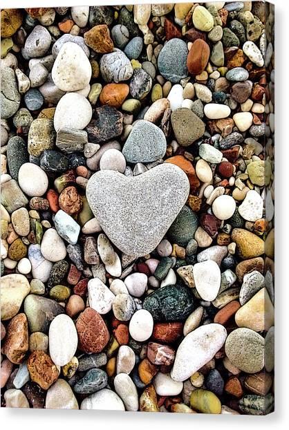 Heart-shaped Stone Canvas Print