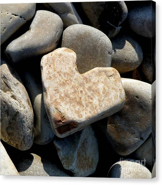 Heart Stone Canvas Print