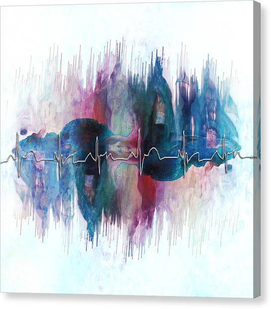 Heartbeat Drama Canvas Print