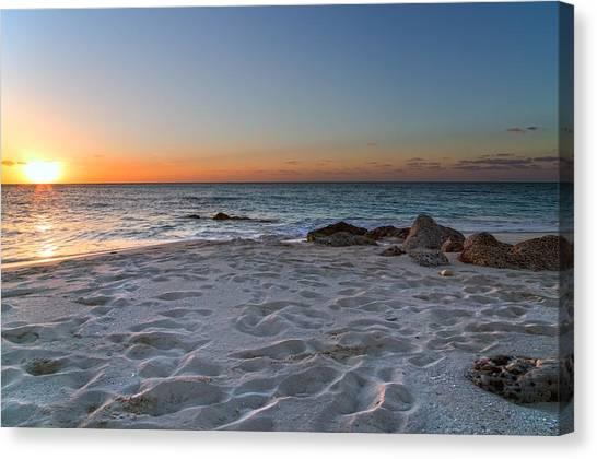 Ocean Sunsets Canvas Print - Heartbreak Sunset by Betsy Knapp