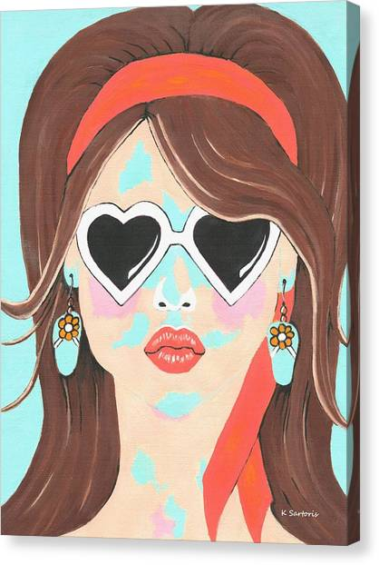 Heartbreaker - Contemporary Woman Art Canvas Print