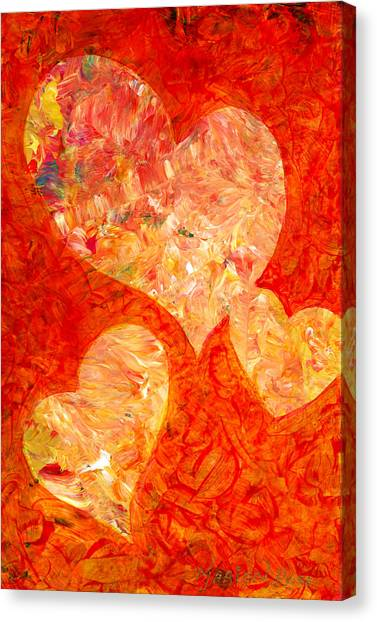 Heart Canvas Print - Heartfelt 2 by Marion Rose