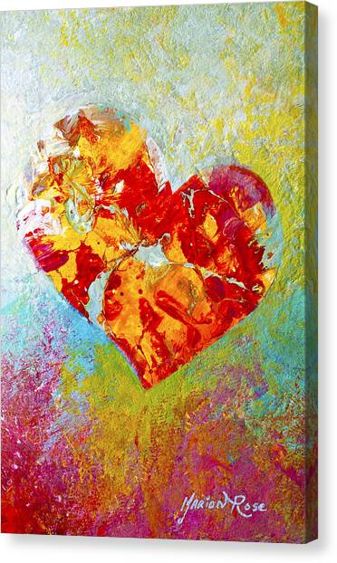 Heart Canvas Print - Heartfelt I by Marion Rose