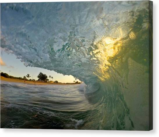 Bodyboard Canvas Print - Heartflame by Benen  Weir