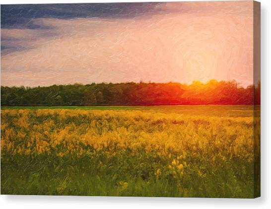 Prairie Sunrises Canvas Print - Heartland Glow by Tom Mc Nemar