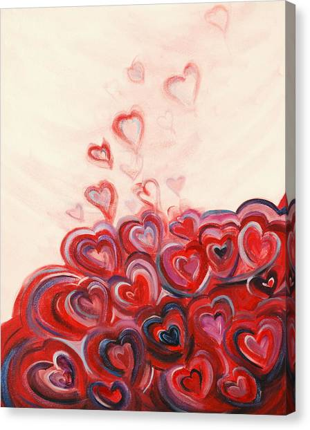 Hearts Given To God Canvas Print