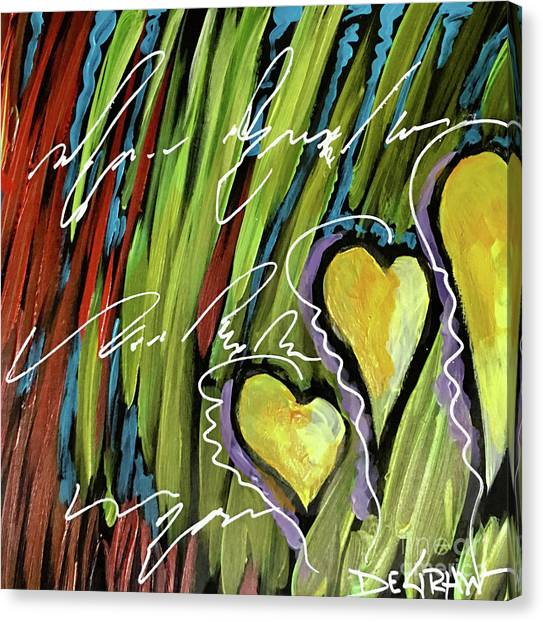 Hearts In The Grass Canvas Print