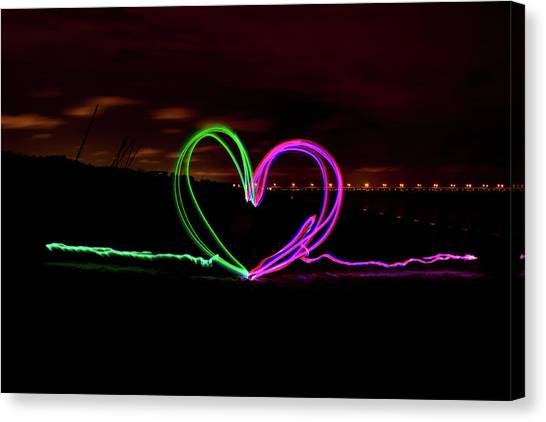 Hearts In The Night Canvas Print
