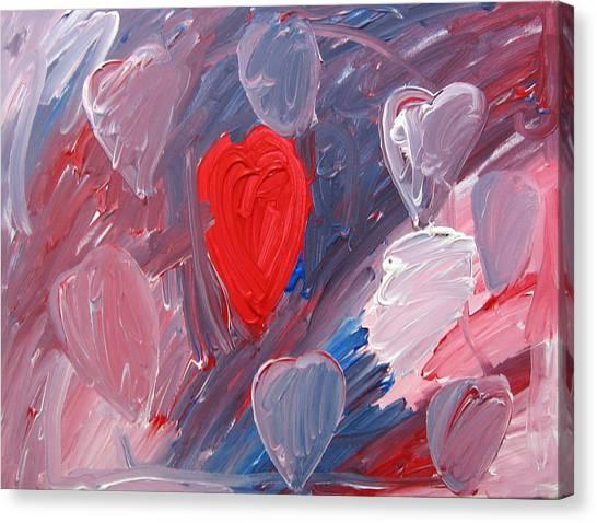 Hearts Canvas Print by Kiely Holden