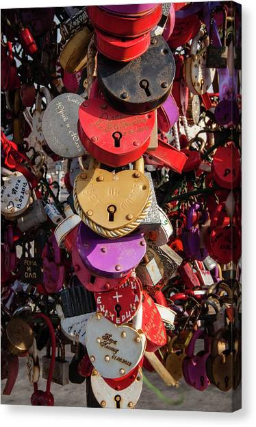 Hearts Locked In Love Canvas Print