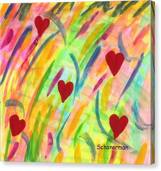 heARTs of Spring Canvas Print