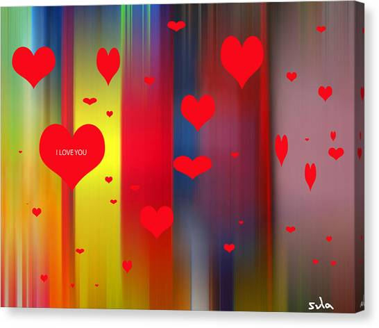 Hearts Canvas Print by Sula Chance