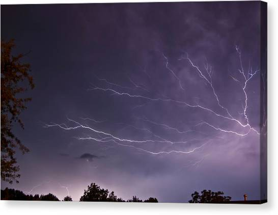 Heat Lightning Canvas Print
