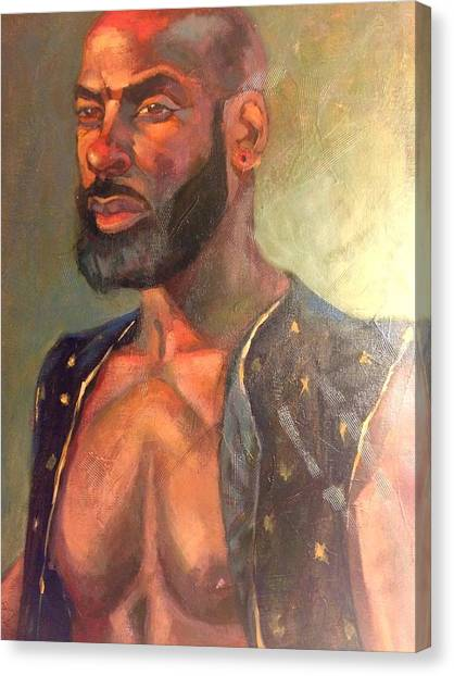 Canvas Print featuring the painting Heat Merchant by JaeMe Bereal