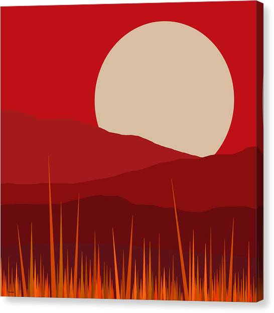 Heat - Red Sky  Canvas Print
