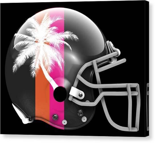 Miami Heat Canvas Print - Heat What If Its Football by Joe Hamilton