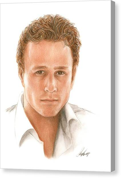 Heath Ledger Canvas Print - Heath by Bruce Lennon