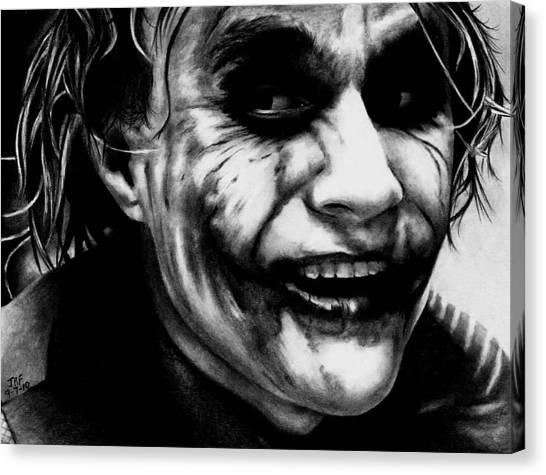 Heath Ledger Canvas Print - Heath Ledger Joker by Rick Fortson