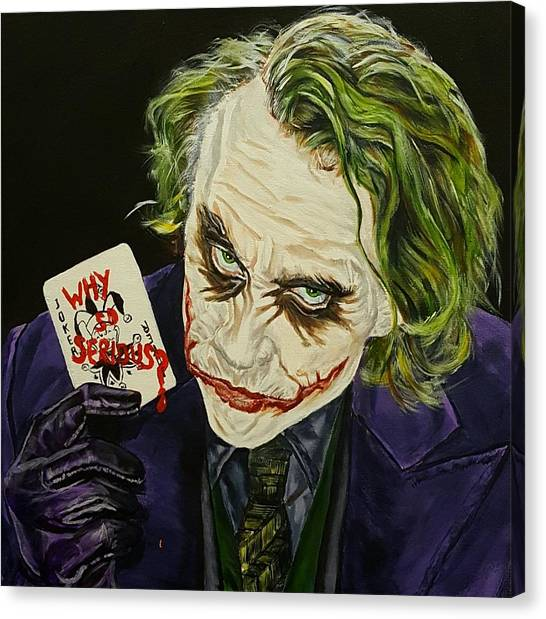 Heath Ledger Canvas Print - Heath Ledger The Joker by David Peninger
