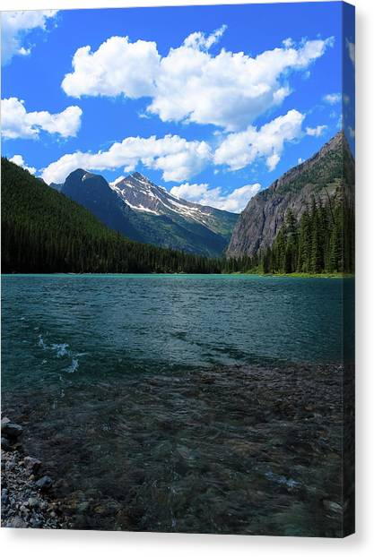 Heavan's Peak From Avalanche Lake Canvas Print