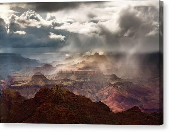 Heaven And Earth Canvas Print by Adam Schallau