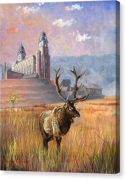 Old Christ Church Canvas Print - Heaven And Earth by Jeff Brimley