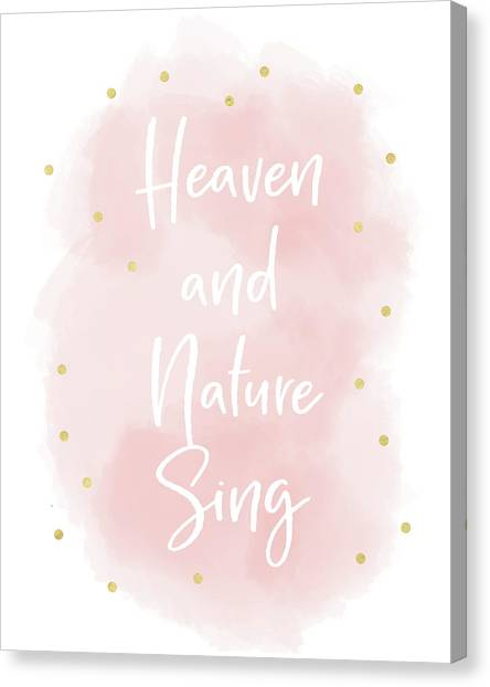 Heaven Canvas Print - Heaven And Nature Sing Pink- Art By Linda Woods by Linda Woods