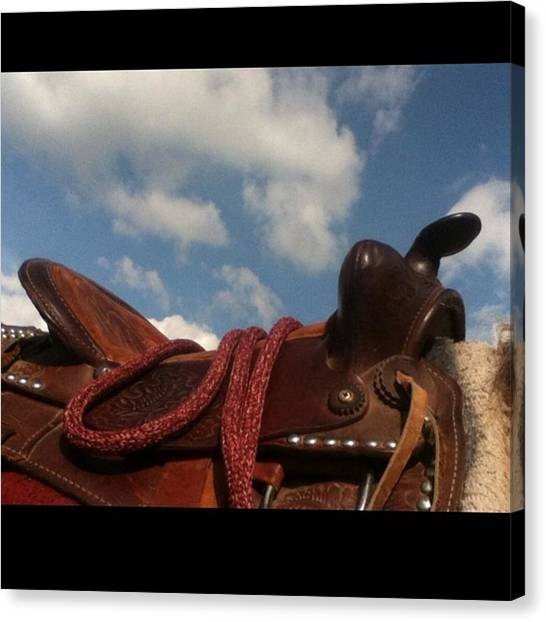 Saddles Canvas Print - Heaven In On The Back Of A Horse <3 by Neli Kvale