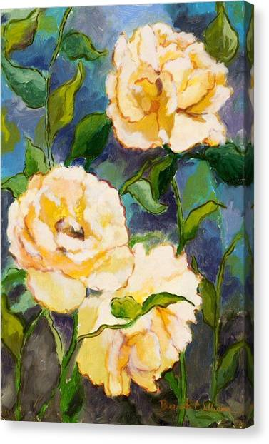 Heaven On Earth Roses Canvas Print by Brenda Williams