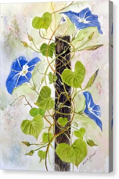 Heavenly Blue Twine Canvas Print