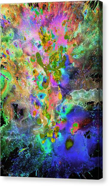 Abstract Expressionism Canvas Print - Heavenly Cosmos Series 1975.032914invertx2 by Kris Haas