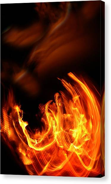 Fire Canvas Print - Heavenly Flame by Donna Blackhall