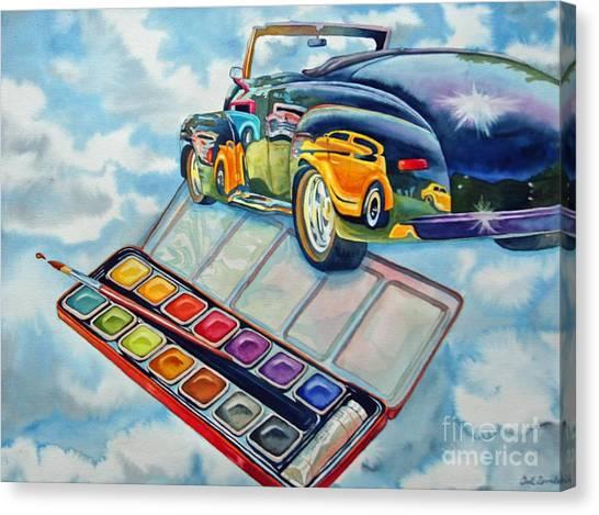 Heavenly Hotrod Canvas Print by Gail Zavala
