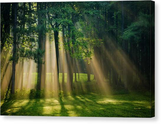Canvas Print featuring the photograph Heavenly Light Sunrise by Christina Rollo
