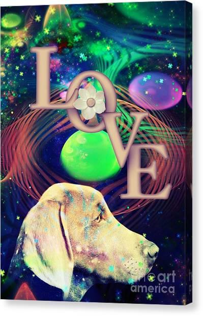 Canvas Print featuring the digital art Heavenly Love by Kathy Tarochione