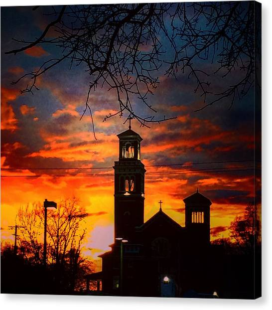 Heavenly Sunset Canvas Print