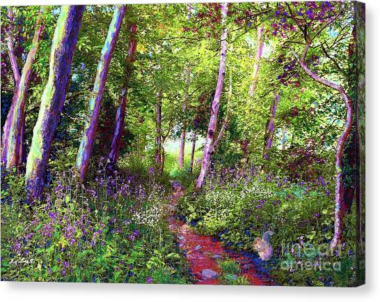 Foliage Canvas Print - Heavenly Walk Among Birch And Aspen by Jane Small