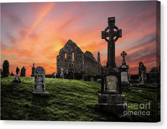 Cemetery Canvas Print - Heaven's Call by Evelina Kremsdorf