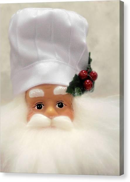 Santa Claus Canvas Print - Heaven's Chef by Christine Till