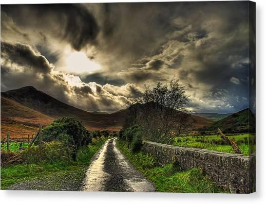 Heavens Path Canvas Print by Kim Shatwell-Irishphotographer