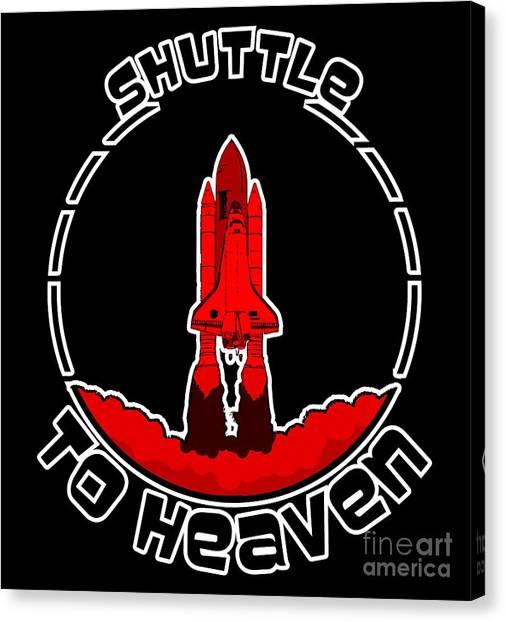 Heavens Shuttle Canvas Print